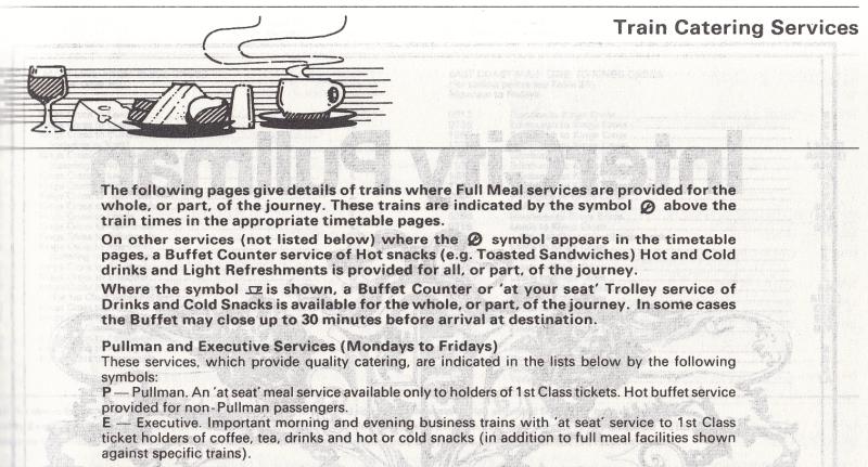Catering symbols, 1986